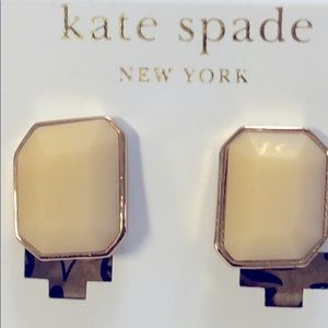 Kate spade gold and cream clips New York